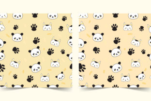 Seamless Pattern Cute Panda and Mouse Graphic Patterns By hamdhan231196
