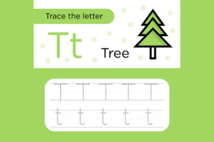 Print on Demand: Trace the Letter Worksheets for Kids Gráfico Material educativo Por Riduwan Molla