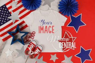 4th of July Child T-Shirt Mockup Graphic Product Mockups By Mockup Central