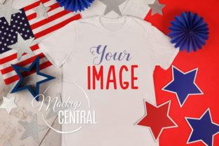 4th of July, Unisex America Shirt Mockup Graphic Product Mockups By Mockup Central