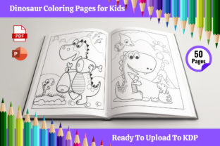 50 Dinosaur Coloring Pages for Kids Graphic Coloring Pages & Books Kids By Leos Designs
