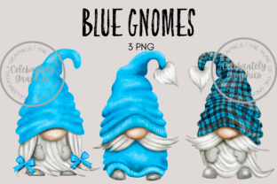 Blue Gnome Clipart Graphic Illustrations By Celebrately Graphics
