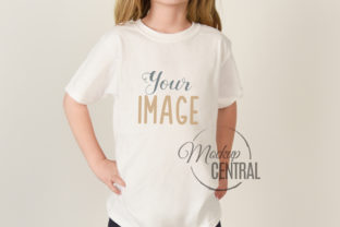 Child in White T-Shirt Apparel Mockup Graphic Product Mockups By Mockup Central