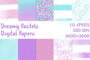 Print on Demand: Dreamy Pastels Digital Papers Graphic Backgrounds By G.Gray