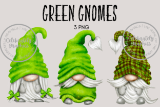 Green Gnome Clipart Graphic Illustrations By Celebrately Graphics