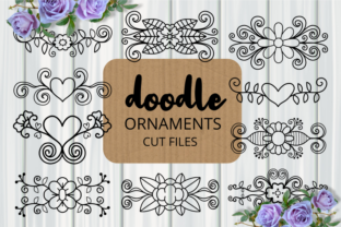 Print on Demand: Hand Drawn Ornamental Flourish Cut Files Graphic Crafts By Prawny