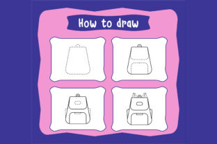 Print on Demand: How to Draw School Bag Step by Step Graphic Coloring Pages & Books Kids By Riduwan Molla