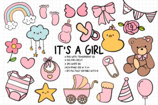 Print on Demand: It's a Girl SVG, Baby Girl Shower SVG Graphic Crafts By Chonnieartwork