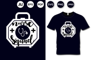 Nurse Squad T-shirt Design Graphic Print Templates By aroy00225