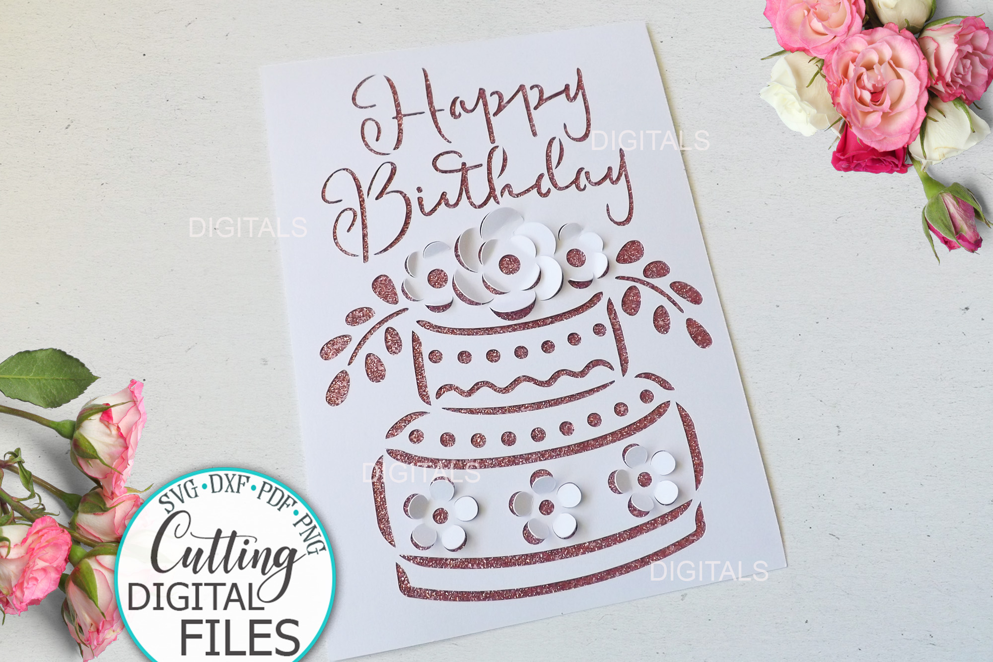 Pop Up Birthday Card Svg Cut out SVG File