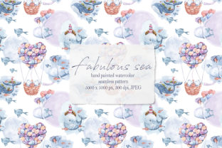 Print on Demand: Watercolor Nautical Seamless Pattern Graphic Patterns By Tiana Geo