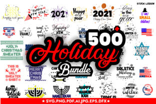 500 Holiday Illustrations/Quotes Bundle Graphic Objects By sidd77