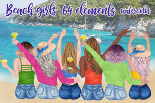 Print on Demand: Beach Girls Summer Girls Png Graphic Illustrations By LeCoqDesign