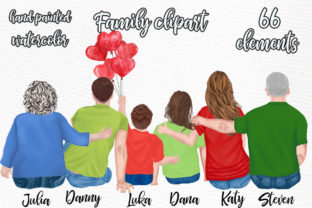 Print on Demand: Family Clipart Grandparents and Kids Graphic Illustrations By LeCoqDesign