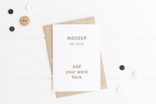 A6 Card Mockup - Psd Png Graphic Product Mockups By White Hart Design Co.