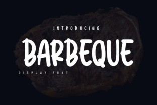 Print on Demand: Barbeque Display Font By twinletter