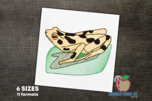 Black Spotted Frog Quick Stitch Reptiles Embroidery Design By embroiderydesigns101