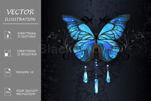 Blue Morpho Butterfly Graphic Illustrations By Blackmoon9