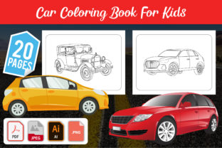 Car Coloring Pages for Kids Graphic KDP Graphic Coloring Pages & Books Kids By GRAPHICSMINE