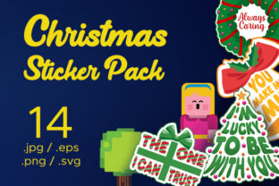 Christmas Sticker Pack Graphic Objects By ART STRIDE