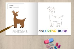 Coloring Book Animal - Deer Graphic Coloring Pages & Books Kids By 57creative