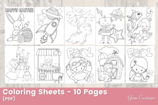 Coloring Sheets - 10 Pages Graphic Coloring Pages & Books By Glam Creations