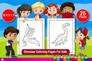 Dinosaur Coloring Pages for Kids Vol-4 Graphic Coloring Pages & Books Kids By Sharif54