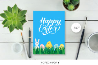 Easter Card. Greeting Card Graphic Illustrations By LaBelezoka