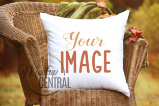 Fall Rustic Outdoor Pillow Mockup Graphic Product Mockups By Mockup Central