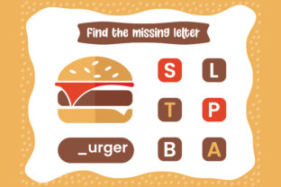 Print on Demand: Finding the Missing the Letter Worksheet Graphic Teaching Materials By Riduwan Molla