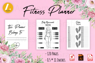 Fitness Planner Kdp Interior Graphic KDP Interiors By Awesome Grafix