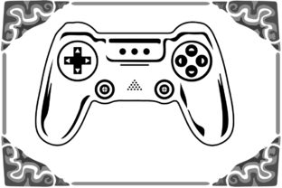 Print on Demand: Game Controller Joystick SVG Und PNG Graphic Print Templates By Lifua