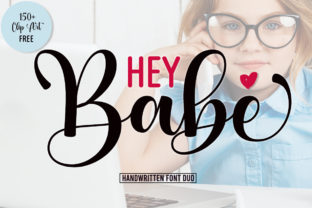 Print on Demand: Hey Babe Script & Handwritten Font By Fadlilah Studio