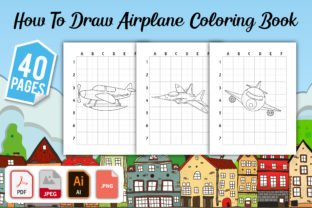How to Draw Airplane Coloring Book Graphic Coloring Pages & Books Kids By GRAPHICSMINE