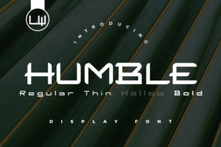 Print on Demand: Humble Display Font By LittleWind Studio