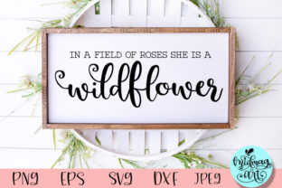 In the Field of Roses Wood Sign Svg Graphic Objects By MidmagArt