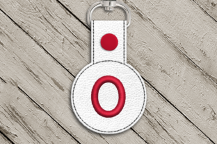 Letter O ITH Round Key Fob Applique Accessories Embroidery Design By DesignedByGeeks