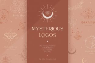Print on Demand: Logo Templates Collection ~ Mystic. Moth Grafik Logos von Olya.Creative