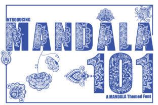 Print on Demand: Mandala Decorative Font By KtwoP
