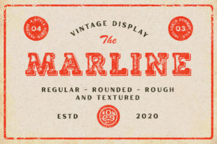 Print on Demand: Marline Display Font By Edignwn Type