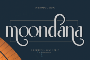 Print on Demand: Moondana Sans Serif Font By Sihans Design