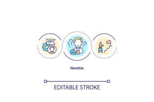 Print on Demand: Newbie Concept Icon Graphic Icons By bsd studio
