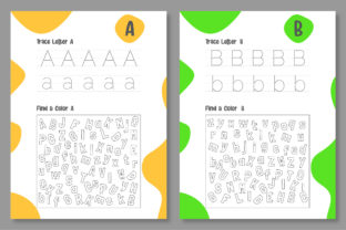 Print on Demand: Printable Letter Tracing Worksheet Graphic Teaching Materials By Riduwan Molla