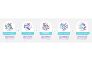 Print on Demand: Rules of Company Vector Infographic Graphic Infographics By bsd studio