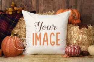 Rustic Fall Halloween Mockup Pillow Graphic Product Mockups By Mockup Central