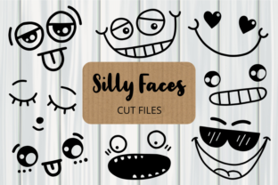 Print on Demand: Silly Faces Cut Files Clipart Graphic Crafts By Prawny