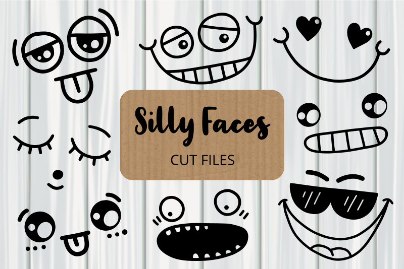 Silly Faces Cut Files Clipart SVG File