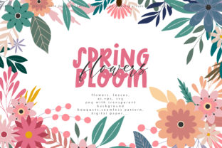 Spring Bloom Flowers Graphic Illustrations By BilberryCreate