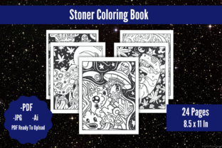 Stoner Coloring Book Graphic Coloring Pages & Books Adults By KDPstudios