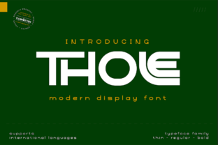 Print on Demand: Thole Display Font By twinletter